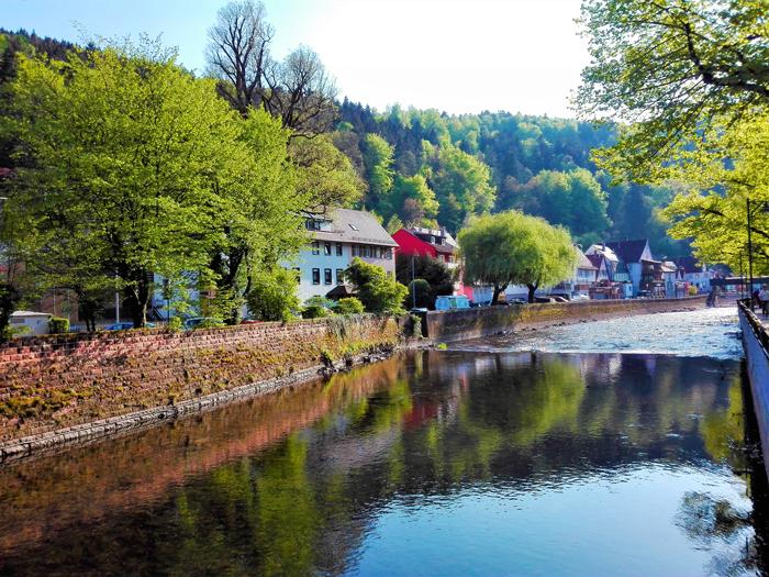 Neuenburg-valle-del-rio-Enz-don-viajon-turismo-recreativo-aventura-Selva-Negra-Baden-Wurttemberg-Alemania